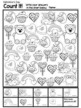 Count It!  Valentine's Day Edition Freebie
