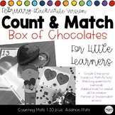 Count & Match Math Activity 1-30 in Black & White