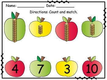 Count & Match Place Value Apples