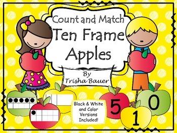 Count & Match Ten Frame Apples