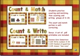 Count, Match, Write [Common Core] Activboard and Printable