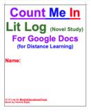 Count Me In Lit Log (Novel Study) For Google Docs (for Dis