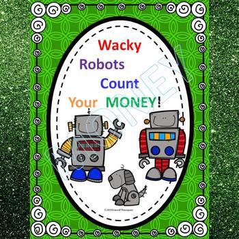 "Robots Make Change ""Counting Money"" (Money Worksheets)"