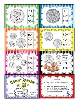 Count Money to 50 cents (US Coins)