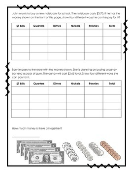 Count Money with the Make a Table Strategy