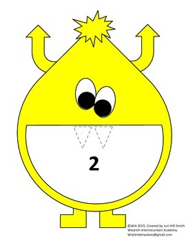 Count Monster's Teeth - A Candy Corn Counting Game