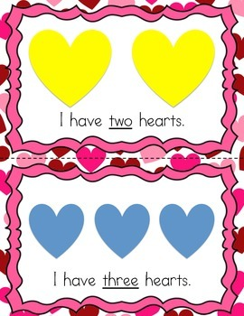 Count My Hearts: A Valentine's Emergent Printable Reader