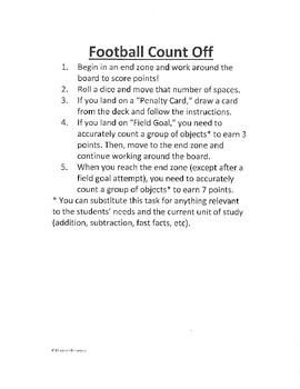 Count Off Football Game