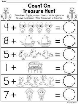 Counting On:  Addition (Kindergarten Math / 1st Grade Math / Morning Work)