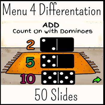 Count On Addition with Dominoes Flipchart: 2's, 5's, 10's