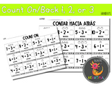 Count On Count Back 1, 2, or 3 Handouts in English and Spanish