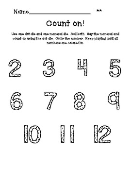 Count On!:  Fun Activities to Practice Adding Numbers by Counting On