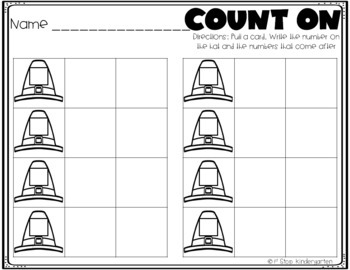 Thanksgiving Count On (Numbers 0-20)
