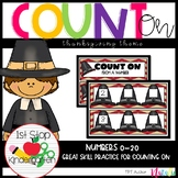 Count On From A Given Number Activities- (Thanksgiving Theme 0-20)