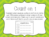 Count On One Sequences Worksheet Activity
