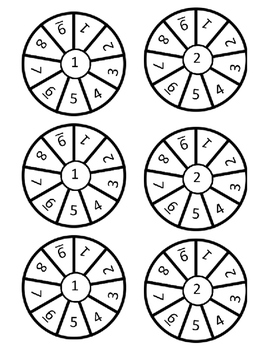 Count On Spinners - 3 Levels and Blank Ones!