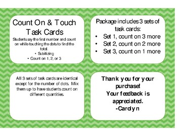 Count On Task Cards
