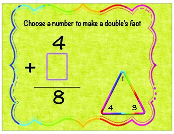 Count On To Add , Choosing Numbers to make fact doubles Mats and Board Game