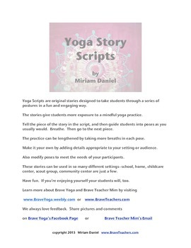 Count On Yoga Story Script