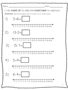 Count On and Count Back using a Number Line