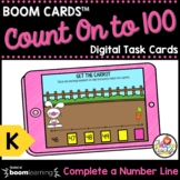 Count On to 100 Boom Cards™ Kindergarten Math Task Cards D