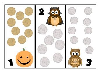 Count Owl Coins [A Halloween Themed Money Activity]
