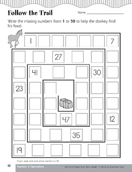 Count, Read, and Write Whole Numbers to 50