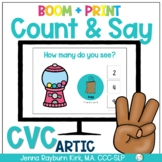 Count & Say Articulation for CVC Word shapes:  Sweets BOOM