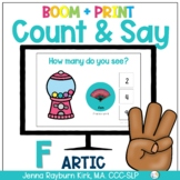 Count & Say Articulation for F Sound:  Sweets BOOM Digital