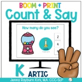 Count & Say Articulation for K Sound:  Sweets BOOM Digital