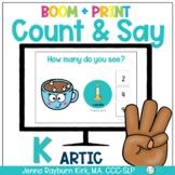 Count & Say Articulation for K Sound: Winter BOOM Digital + Print
