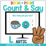 Count & Say Articulation for L Sound: Winter BOOM Digital + Print