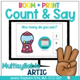 Count & Say Articulation for Multisyllable Words:  Sweets