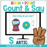 Count & Say Articulation for S Sound:  Sweets BOOM Digital