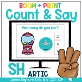 Count & Say Articulation for SH Sound:  Sweets BOOM Digita