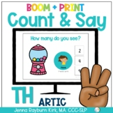Count & Say Articulation for TH Sound:  Sweets BOOM Digita
