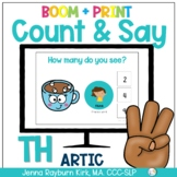 Count & Say Articulation for TH Sound: Winter BOOM Digital