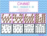 Count! Set 2 Numbers 11 - 20 Count & Order by Amount   Count & Compare