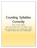 Count Syllables Correctly