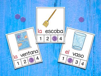 Count Syllables in Spanish - ¡Cuenta sílabas! (Consonantes que coinciden B-V)