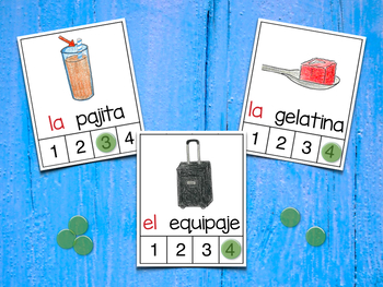 Count Syllables in Spanish - ¡Cuenta sílabas! (Consonantes que coinciden J-G)