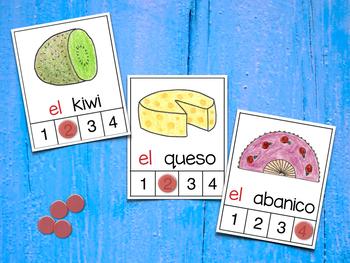 Count Syllables in Spanish - ¡Cuenta sílabas! (Consonantes que coinciden Q-C-K)