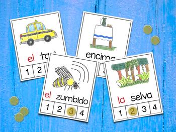 Count Syllables in Spanish - ¡Cuenta sílabas! (Consonantes que coinciden SCXZ)