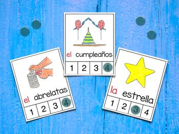 Count Syllables in Spanish - ¡Cuenta sílabas! (sílabas compuestas y mixtas)