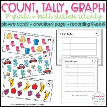 Count, Tally, Graph! - A first grade math station activity