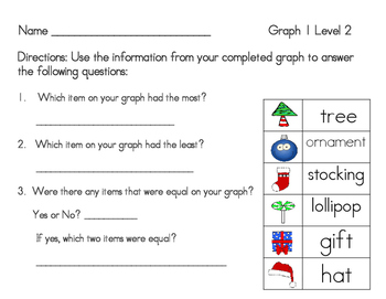 Count, Tally, Write, Graph Christmas Graphing for Grades K-2