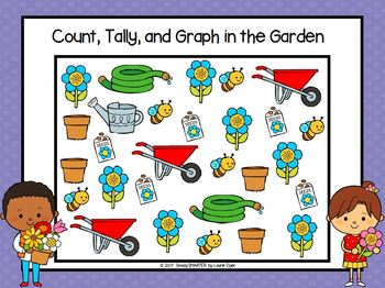 Count, Tally, and Graph in the Garden:  NO PREP Data Collection Activities