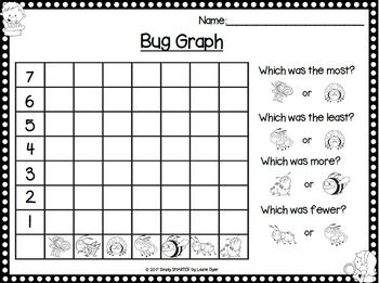 Count, Tally, and Graph the Bugs:  NO PREP Data Collection Math Activities