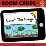 Count The Frogs Boom Cards (distance learning)
