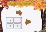 Count The Leaves BOOM Cards | Autumn Fall iPhone Tablet Ki